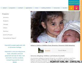 U.S. -- A screenshot of the website of the Hopscotch Adoptions agency.