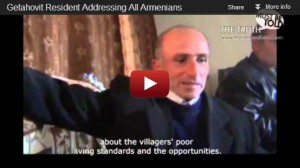 Getahovit Resident Addressing All Armenians