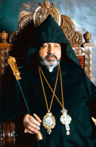 Letter to Catholicos of All Armenians from Armenian Patriarch of Jerusalem