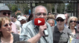 Protest Against Dr. Vahe Avetyan's Murder in Glendale, CA