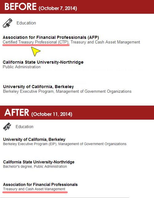 David Gevorkyan's educational background as presented in Linkedin profile