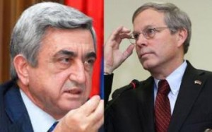 Serzh Sargsyan and John Heffern