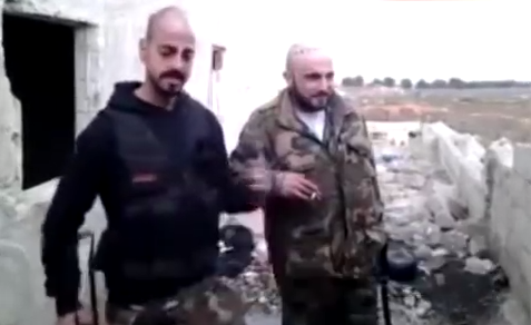 Nerses Kilajian and Sarou Madarian in Syria (© MEMRI)