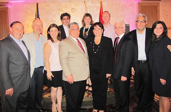 Anthony Portantino surrounded by ANCA Western Region representatives (photo © asbarez.com)