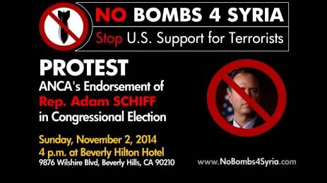 Protest ANCA's Endorsement of Rep. Adam Schiff at Beverly Hilton