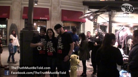 Protesting Americana Shopping Center Ban on Sale of Armenian Genocide T-Shirts